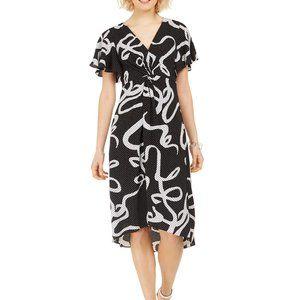 Adrianna Papell Twisted Dot Dress Sz. 6
